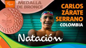 Rio 2016: Carlos Zárate Serrano (Colombia) Bronce en Natación
