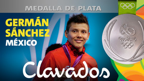 Rio 2016: Germán Sánchez (México) Plata en Clavados