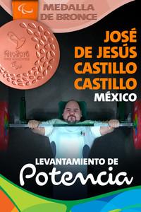 Rio 2016: José de Jesús Castillo Castillo (México) Bronce en Levantamiento de potencia